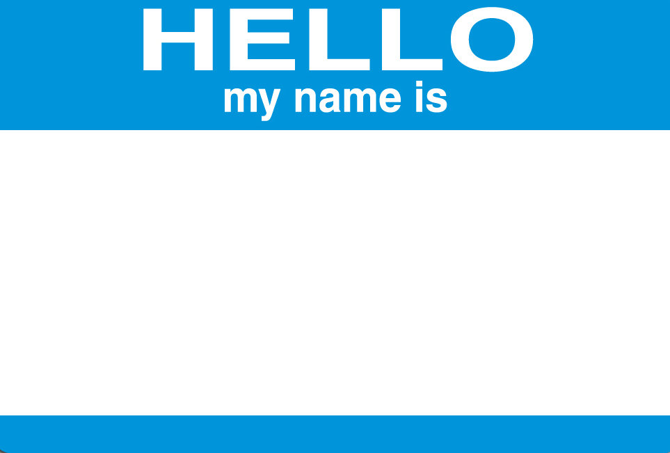 Blank Hello My Name Is Stickers