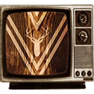 Boho deer on rustic wood