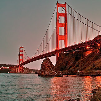 Golden Gate Bridge at Sun Down