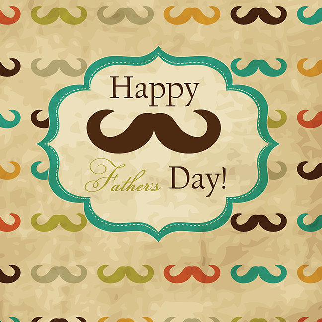 Card with Mustache for Father's Day