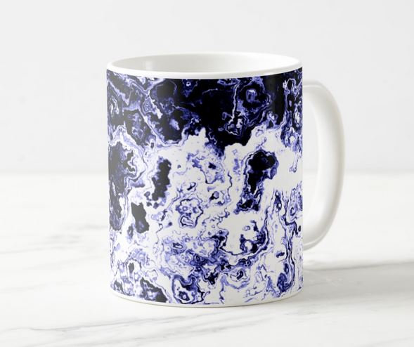 Blue Designer Mugs