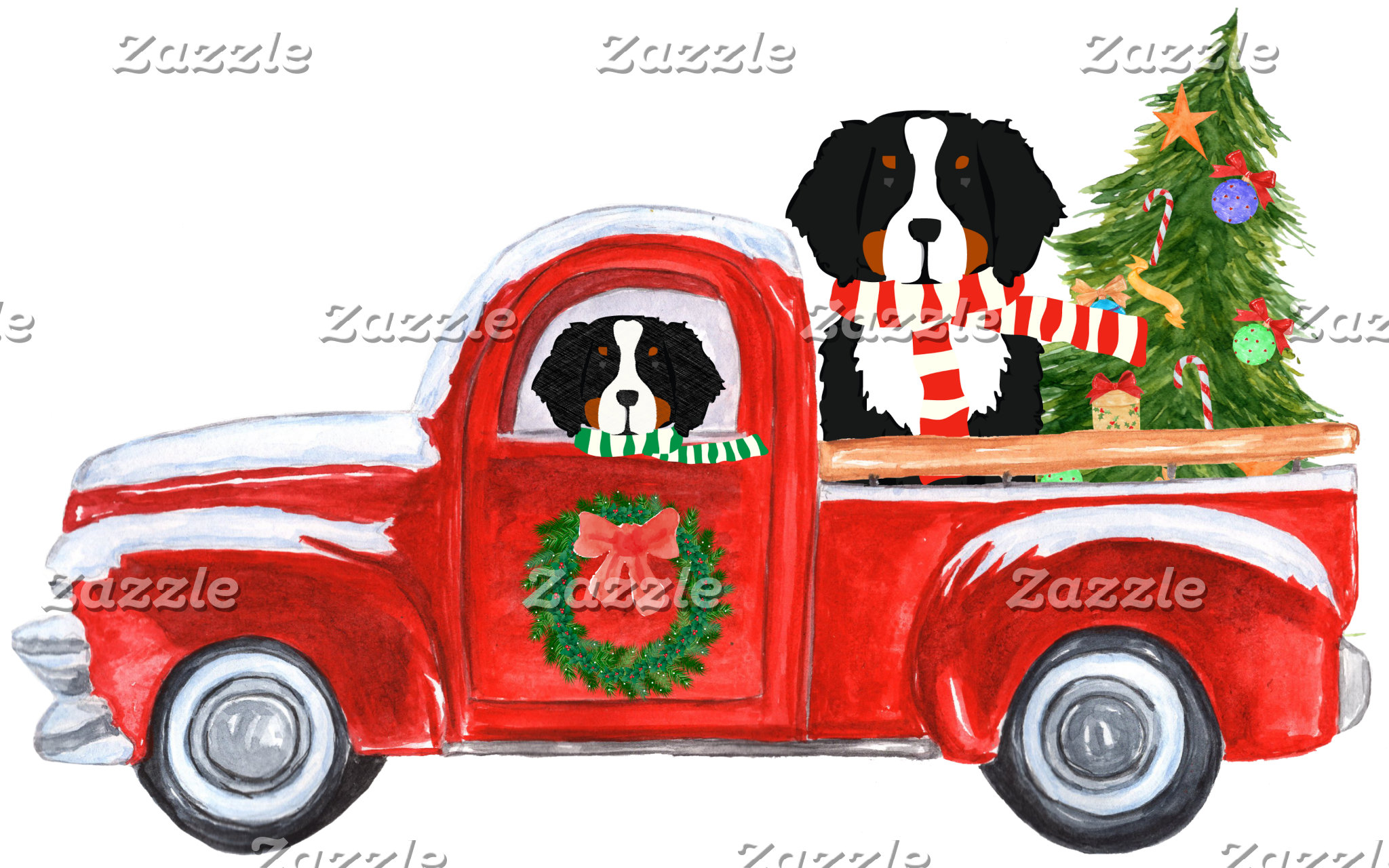 Christmas Berner Red Truck