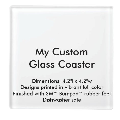 Custom Glass Coasters