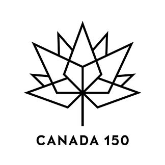 Canada 150 Black Outline