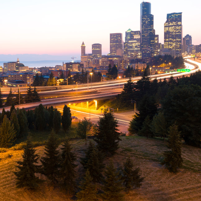Intersection between I-5 and I-90, Seattle