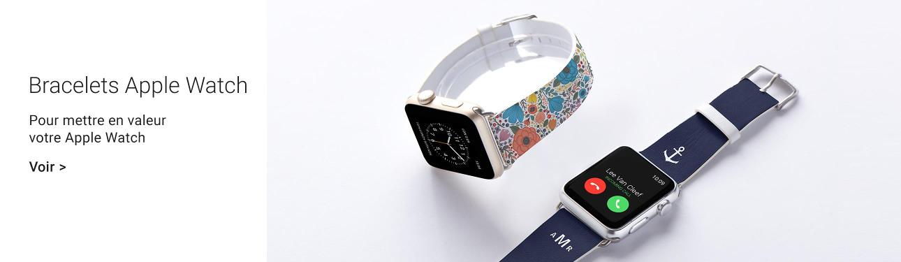Bracelets personnalisés pour Apple Watch