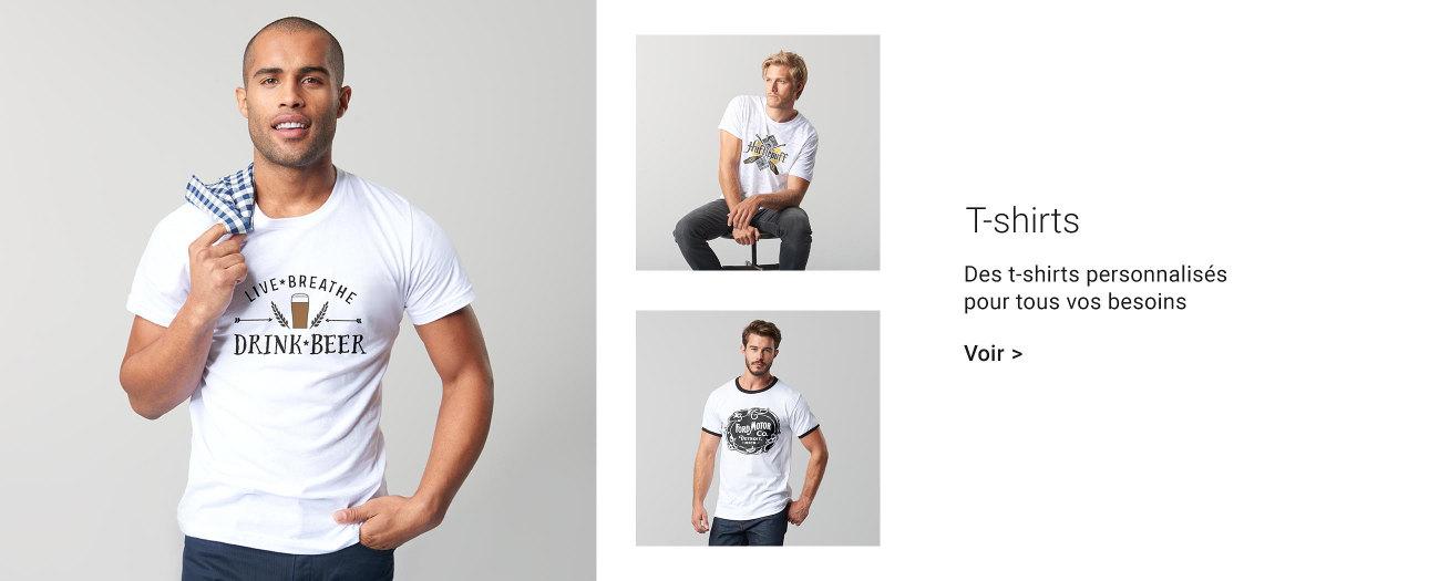 T-shirts personnalisés pour hommes