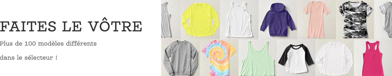 Créez des t-shirts.