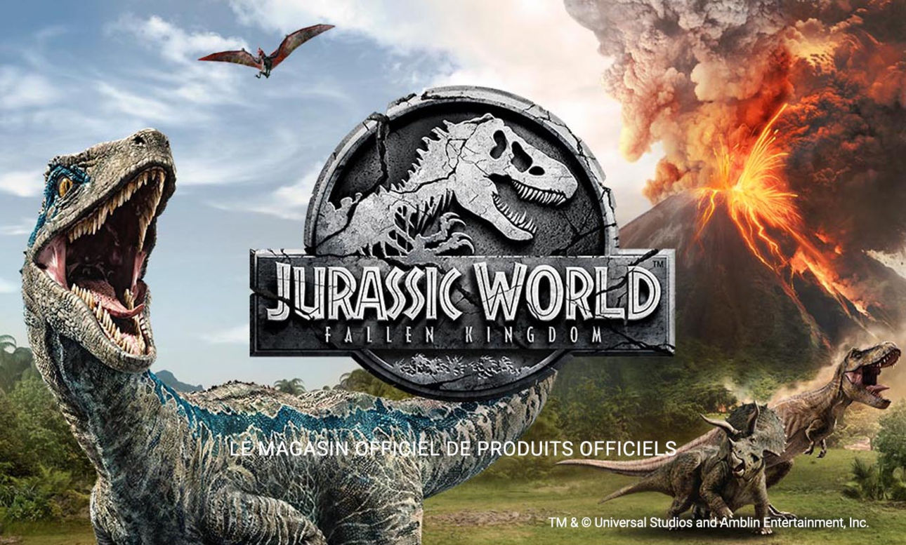 Jurassic World 2 : Fallen Kingdom - Le magasin officiel des produits officiels