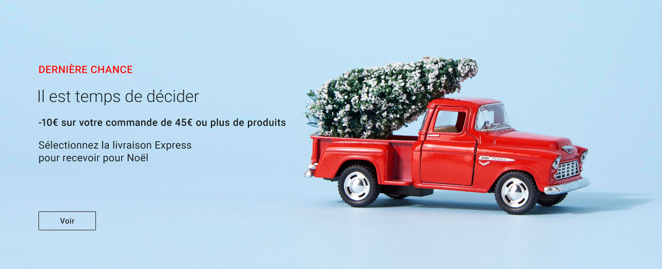 10€ offerts dès 45€ d'achats de produits