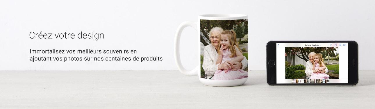 Ajoutez vos photos préférées sur nos centaines de produits