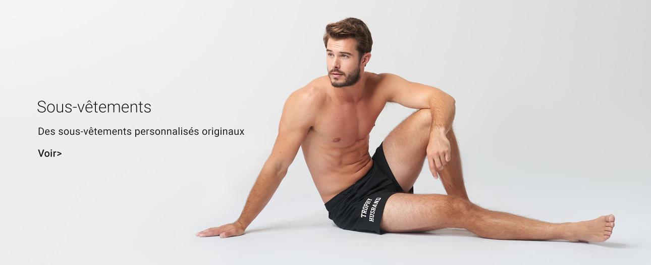 Sous-vêtements personnalisés pour hommes