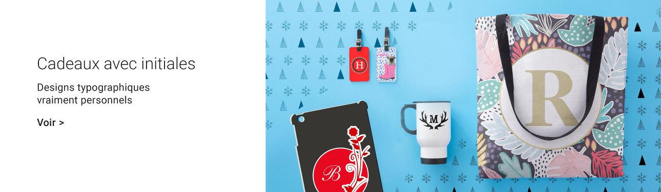 Idées cadeaux de Noël avec initiales