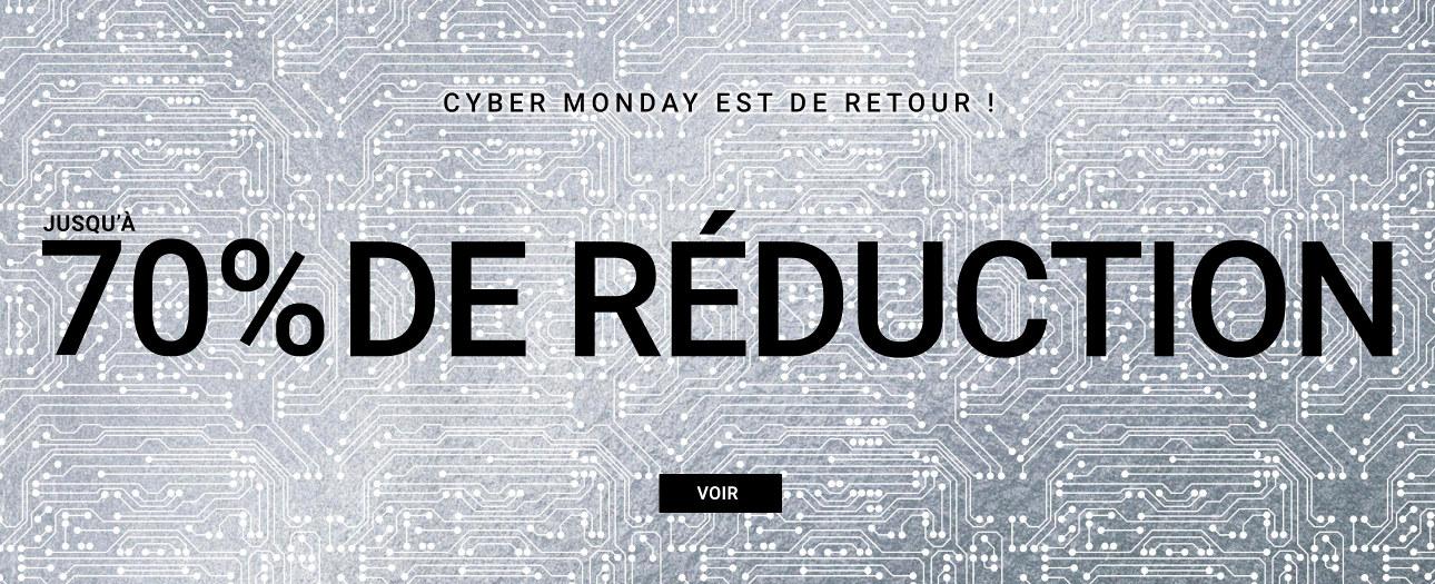 Jusqu'à -70% pendant le retour de Cyber Monday