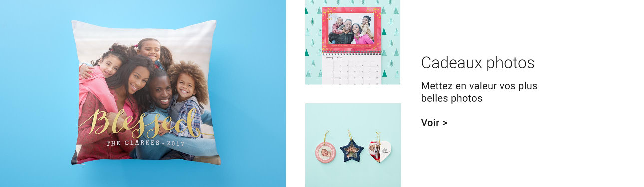 idées cadeaux de Noël avec photos