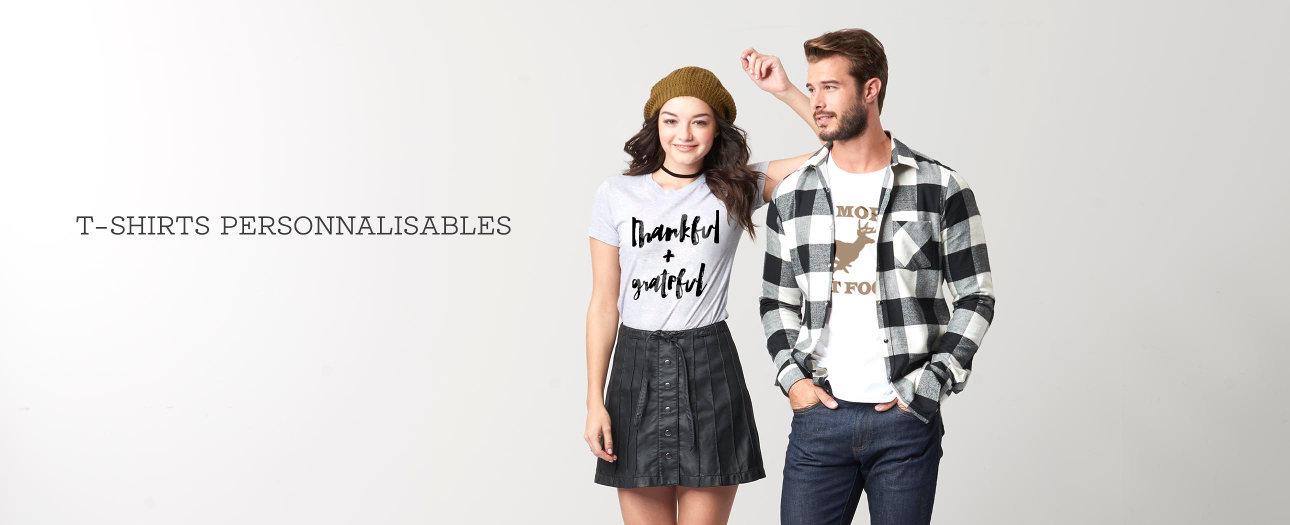 T-shirts personnalisables pour hommes et femmes