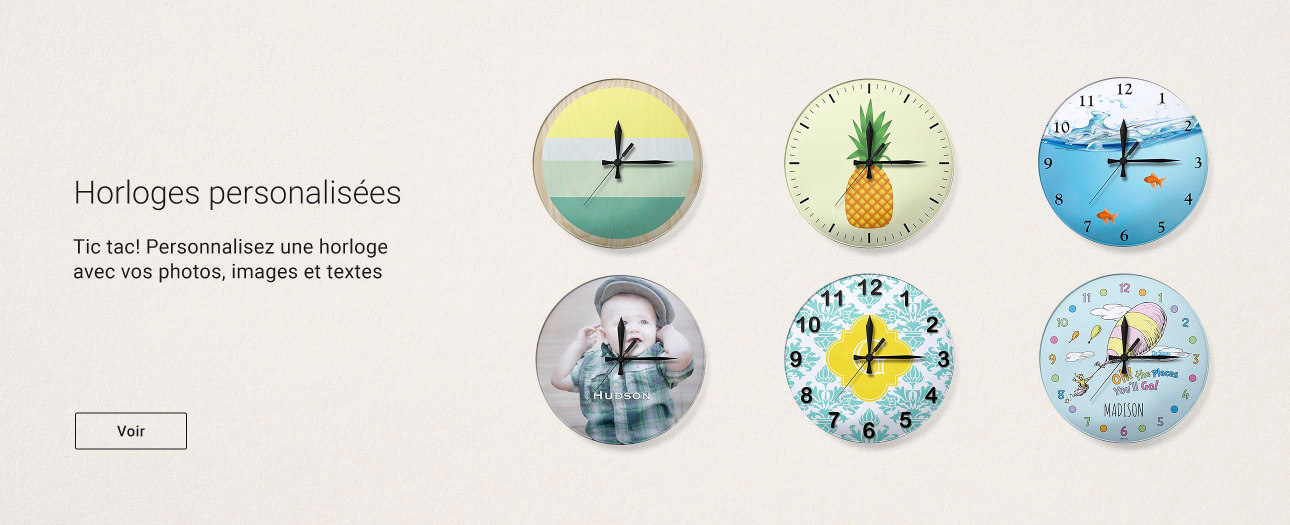 Horloges personnalisables