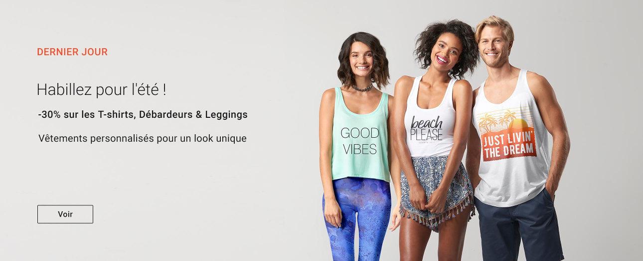 DERNIER JOUR : -30% sur les T-shirts, Débardeurs & Leggings
