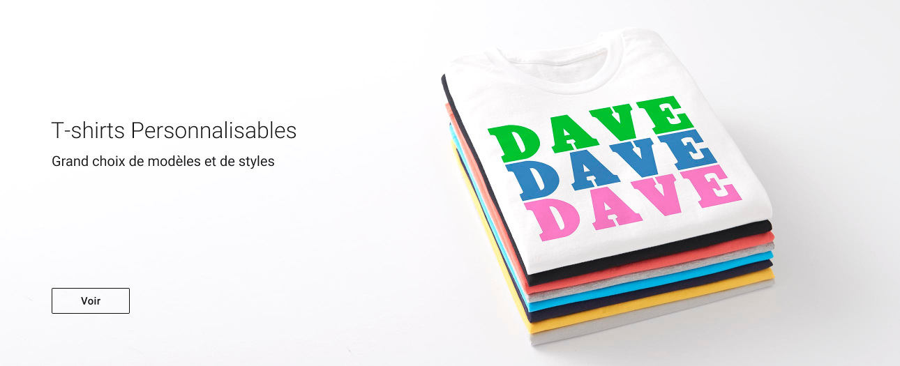 T-shirts personnalisables sur Zazzle