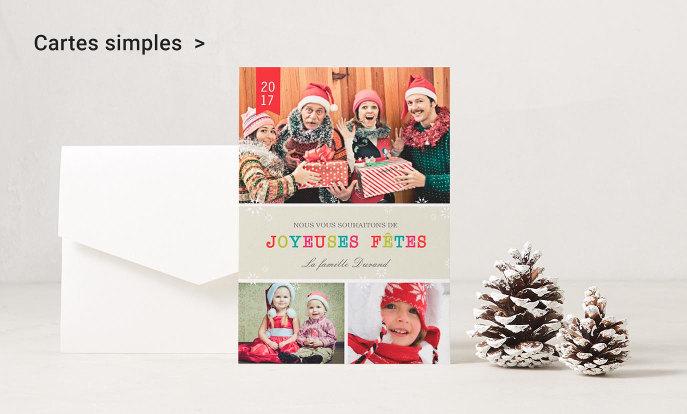 Cartes de voeux simple pour Joyeux Noël et bonne année