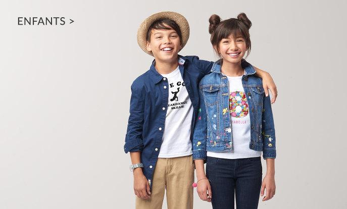 Vêtements personnalisables pour enfants