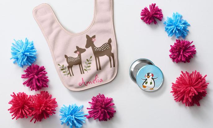 Personnalisez des cadeaux de Noël ou d'anniversaire pour vos enfants.