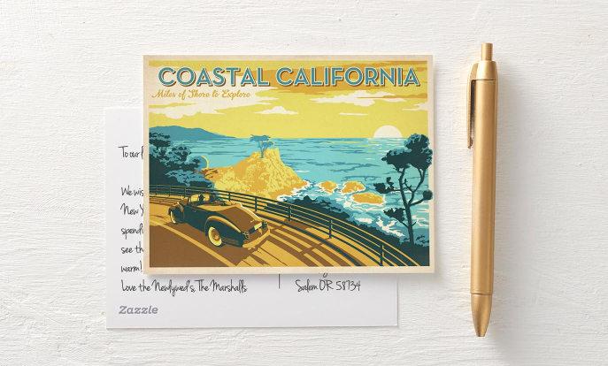 Des milliers de cartes postales sur Zazzle