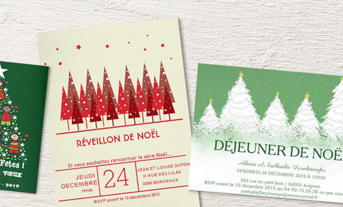 Cartons d'invitation pour les  fêtes
