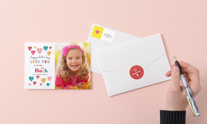 Cartes personnalisées pour la Saint-Valentin