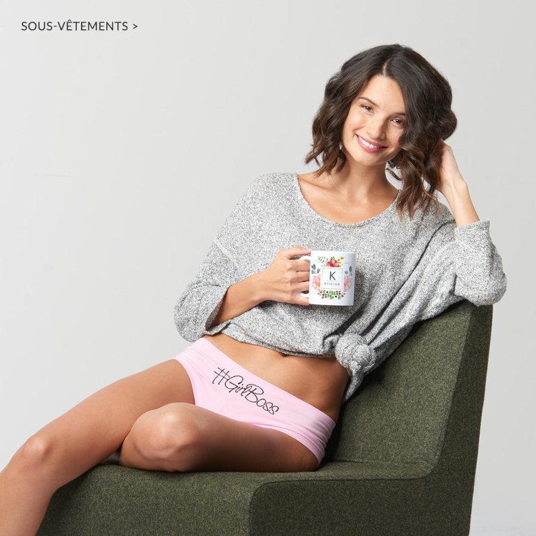 Sous-vêtements pour femmes personnalisables