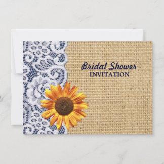 invitations faire part de mariage de toile de jute et de dentelle personnalis s. Black Bedroom Furniture Sets. Home Design Ideas