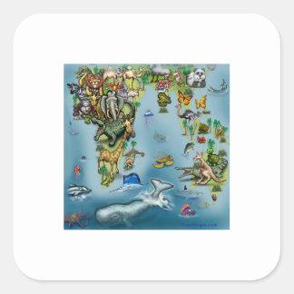 autocollants stickers carte du monde personnalis s. Black Bedroom Furniture Sets. Home Design Ideas
