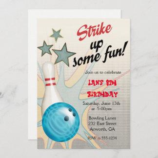anniversaire bowling cartes invitations photocartes et faire part anniversaire bowling. Black Bedroom Furniture Sets. Home Design Ideas