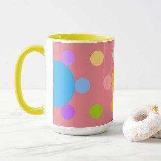 Mug grand modèle 2 couleurs, rose, Fleur Pastel