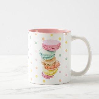 Mug 2 couleurs, Macarons
