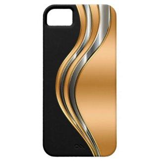 Coque pour iPhone, noir or et argent