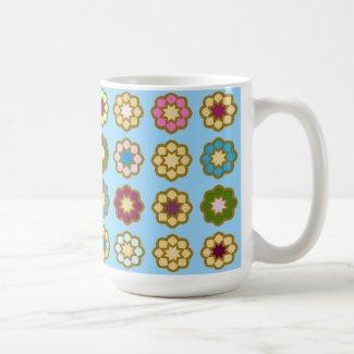"""Mug grand modèle """"Parterre de fleurs"""""""