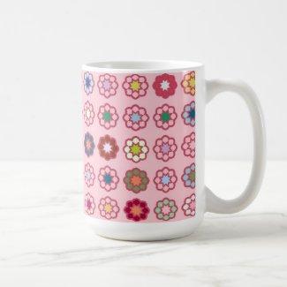 "Mug grand modèle ""Fleurs sur fond rose clair"""