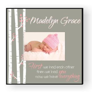 Cadre de tableau personnalisé du bébé 12x12