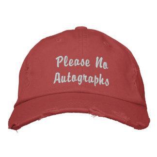 Svp aucuns autographes casquette brodée
