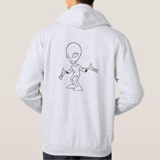 Sweat à capuche avec alien gris clair