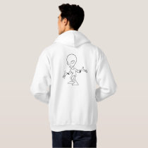 Sweat à capuche blanc design alien