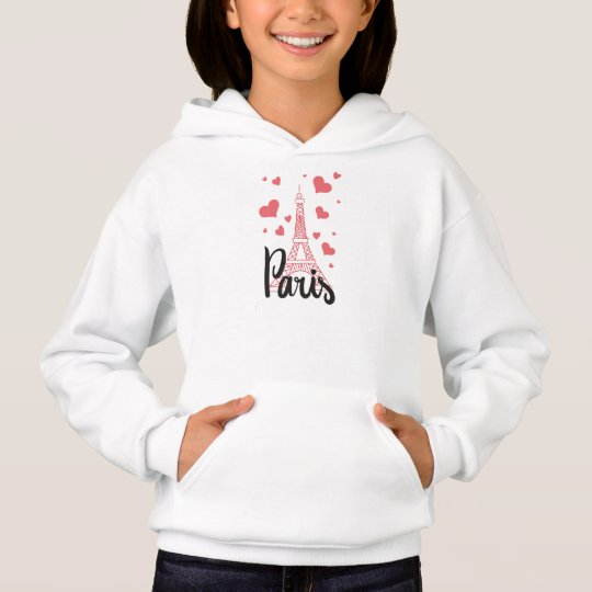 Sweat A Capuche Fille Paris