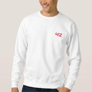 "Sweat blanc ""412"""