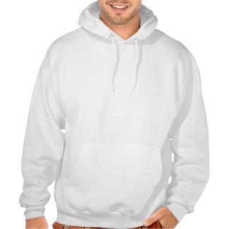 Sweat Blanc Croix Pattée Sweatshirt À Capuche