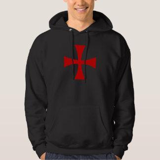 Sweat noir croix templière