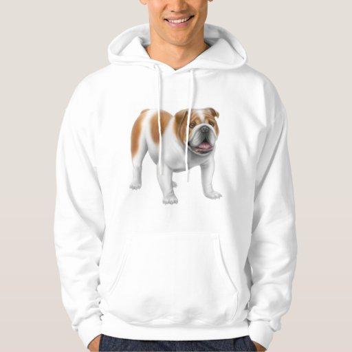 Sweat - shirt à capuche anglais de bouledogue sweatshirts avec capuche