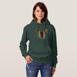 Sweat - shirt à capuche antique de dames d'Anubis