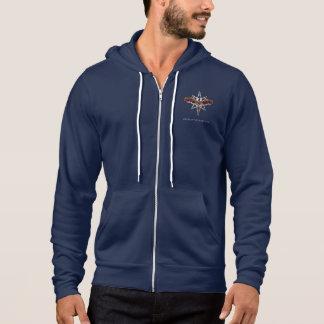 Sweat - shirt à capuche argenté d'étoile (hommes -