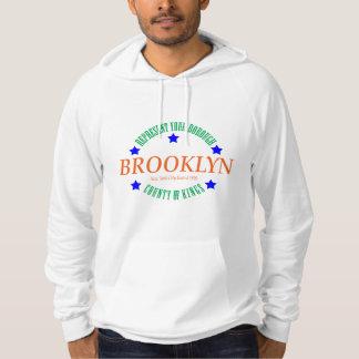 Sweat - shirt à capuche blanc /Brooklyn de pull de
